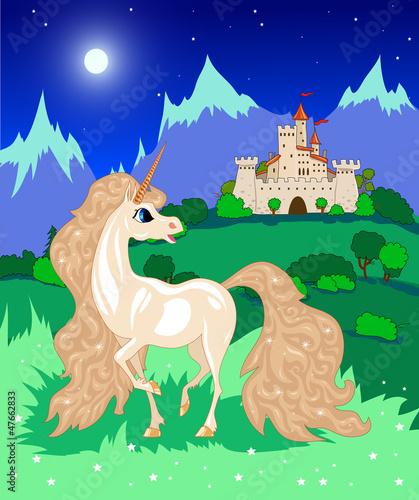 Poster Pony white unicorn