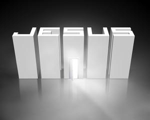 Jesus with open door