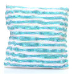 blue bright pillow isolated on white