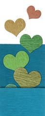 Textile heart banner