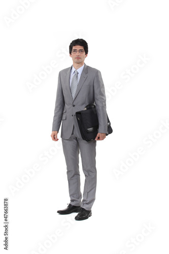 Executive with portfolio under his arm
