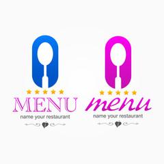 kitchen menu icon logo