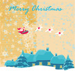 Illustration of funny santa claus