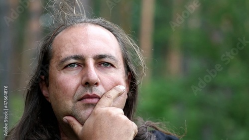 philosophy,shaman, man thinking,