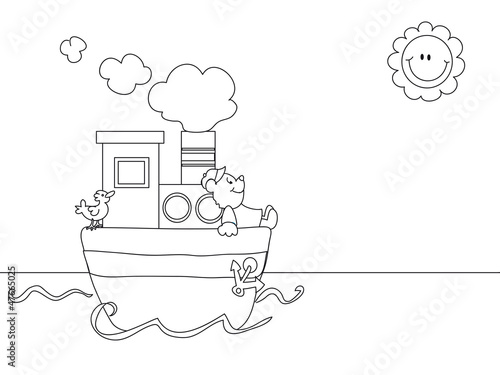 seascape cartoon