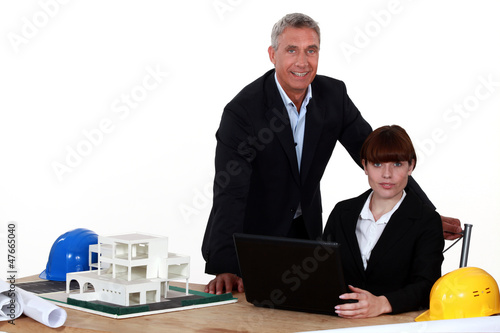 real estate agents in their office