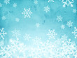 abstract blue background with snowfall