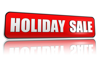 holiday sale red banner
