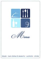 Menu Restaurant_blue boxes