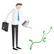 Growing business abstract illustration
