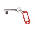 Schlüssel mir rotem Etikett