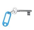 Schlüssel mit Blauem Etikett