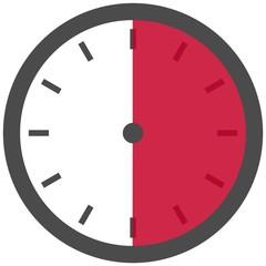 Uhr - Dauer: 30 Sekunden 30 Minuten oder 6 Stunden