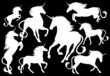 unicorns fine vector silhouettes