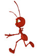 ant cartoon running side view