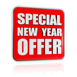 special New Year offer red banner