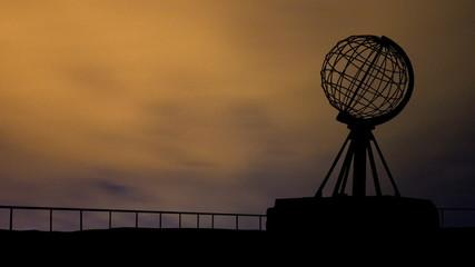 Norway North Cape Globe night clouds