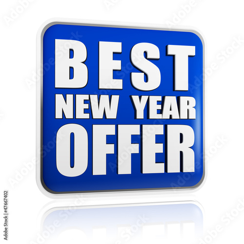 best New Year offer blue banner