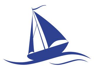Sail ship vector icon