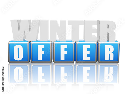 winter offer - letters and block