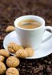 Espresso, Gebäck
