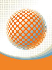 Colorful globe design vector.