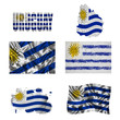 Uruguayan flag collage