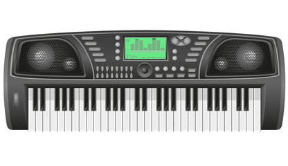 synthesizer vector illustration