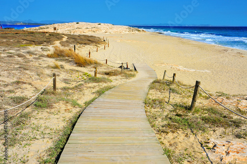 Ses Illetes Beach in Formentera, Balearic Islands, Spain