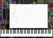 Carton d'invitation thème musique / piano