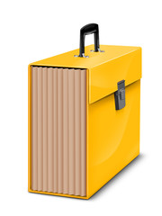 yellow file folder cutout