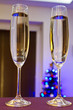 Two flutes of champagne for Happy New Year celebrations