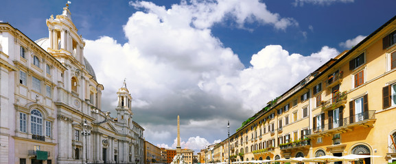 Navona Square, centre of  Rome, Italy.