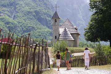 Walking To Mountain Church