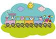 Tren infantil con los animales de la granja