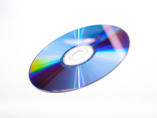 DVD on White Background