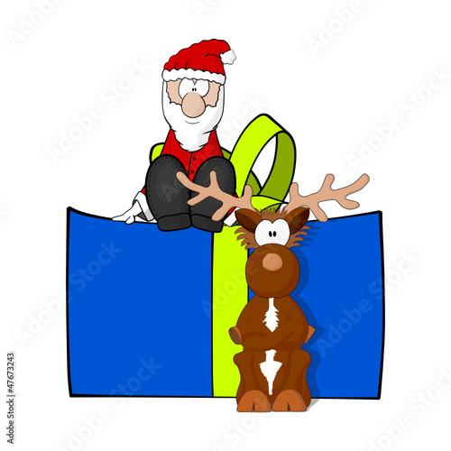 weihnachtsmann rentier geschenk I