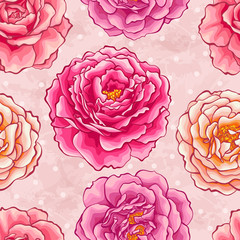 Roses seamless