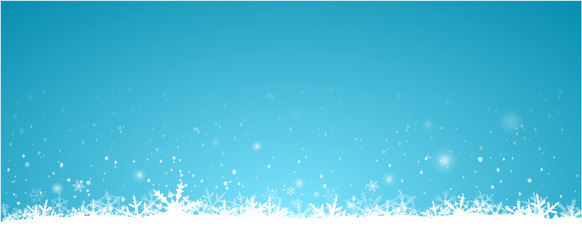 blue Winter Background with snow