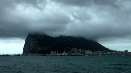 Sturmwolken über Gibraltar