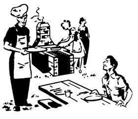 a family enjoying a picnic barbeque