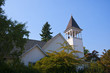Church on Bainbridge Island across Puget Sound Seattle USA
