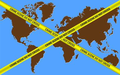 Earth Crime Scene Do Not Cross