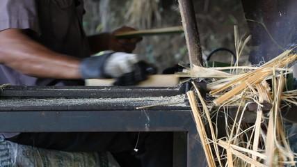 The wooden chopsticks