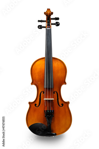 Leinwanddruck Bild Violin isolated on white