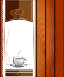 Cup of hot drink - coffee, tea. Menu for restaurant