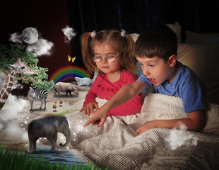 Animals at Bed Time with Children