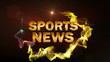 SPORT NEWS Gold Text in Particle (2 Variation) Red - HD1080