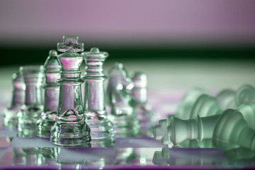 Chess business concept series: strategy, win, checkmate