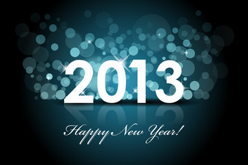 Vector 2013 - New year blue background
